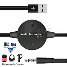 3.5mm Bluetooth Stereo Audio Transmitter Receiver RCA Music Adapter Car Home AUX