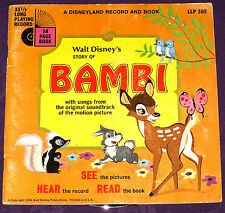 Bambi - Disneyland Book & Record - LLP-309 w/Record!!! 1966 - See Hear And Read!