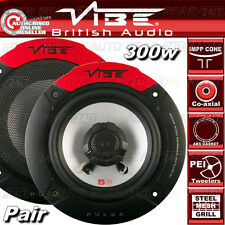 "Vibe Audio Pulse 5 5,25 "" 13cm 130 mm 300w COPPIA AUTO VAN PORTA Coassiale Altoparlanti Set"