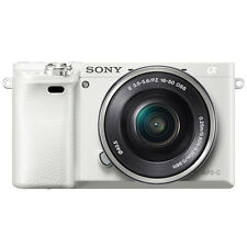 SONY Alpha A6000 Mirroless Digital Camera ILCE6000 with 16-50mm Lens Kit - White