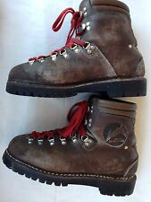Vintage Lowa Germany Men's Size 7 Brown Leather Alpine Mountain Hiking Boots
