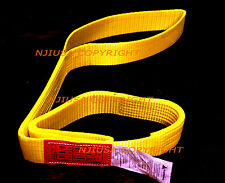 "EE1-902 x 4ft Polyester Web Lifting Sling 2""x4' Lifting Tow Strap eye to eye"