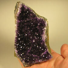 "4.4"" AMETHYST Crystals Cluster Standup Display Gemstone - Uruguay - 1.1 lbs."
