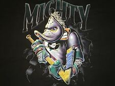 Vintage Anaheim Mighty Ducks Nutmeg Mills Double Sided T-Shirt Sz XL NHL DISNEY