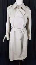 Vintage London Fog Maincoats Long Belted Cape Top Classic Trench Coat Womens 6P