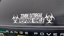 Zombie Outbreak Response Vehicle Sticker, Decal, 4x4, 585mm x 130mm
