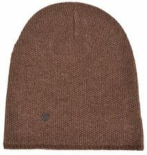 New Gucci 352350 Men's Brown Beige Wool Cashmere Beanie Ski Winter Hat L