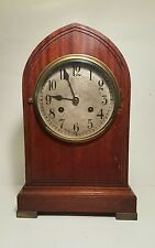 Antique Gustav Becker Mantle Clock: 5 Bar Chime, key, working!!