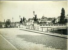 PHOTO VILLE DE GAND LE PONT DU PAIN PERDU VINTAGE PRINT BELGIQUE 1900