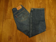501 MENS VINTAGE LEVIS STRAUSS & CO W36 L32  BLUE BUTTON FLY JEANS (105)
