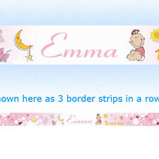 BABY PINK nursery wall or wallpaper name BORDER strips