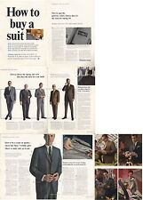 "1965 Michaels-Stern ""How to Buy a Suit"" 1960's Fashion Mens Suit's PRINT AD"