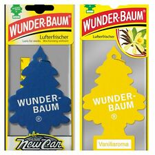 2 pcs Wunderbaum magic tree car air freshener New Car, Vanillaroma