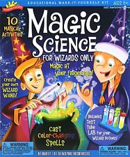 Magic Science for Wizards Only Kit w/ Baking Soda, Citric Acid, Oil, Test Tubes
