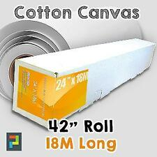 "42"" Cotton Inkjet Canvas Rolls (Matt 330gm) 18 meters"