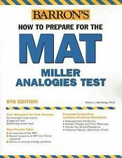 How to Prepare for the MAT: Miller Analogies Test (Barron's)-ExLibrary