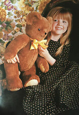 SEWING PATTERN Jean Greenhowe Vintage Teddy Bear Toy Childrens 53cm tall RARE