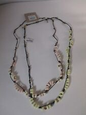 J.Crew Factory pearls on rope necklace NWT $32.50 each Pink & YELLOW set of 2