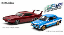 Greenlight 2-Pack Fast & Furious 6: 69 Dodge Charger Daytona and 74 Ford Escort