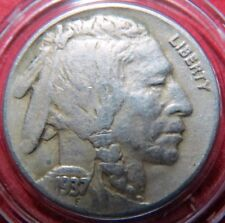 Vintage 1937-D  BUFFALO/INDIAN  HEAD NICKEL, Denver Mint Very Fine Condition #3