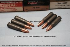 7.62 x 39 AK47 / SKS Steel FMJ – CBW Safe Snap ™  Snap Caps –Non Filled Lot of 6