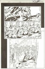 Fantastic Four #508 pg 21 - Death of Thing - Signed art by Howard Porter