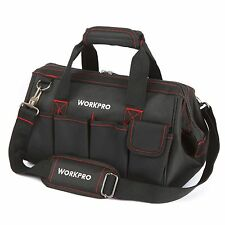 "WORKPRO 14""Storage Tool Bag Backpack Top Strap Thicken Multifuntional Heavy Duty"