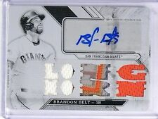 2016 Topps Triple Threads White Whale Brandon Belt Patch Autograph #D1/1 *60374