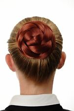 Bun Hair piece ornate braided Hair bun Bridal jewelry copper-red Q399D-350