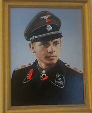 WW2 tank ace Michael Wittmann oil portrait ( modern )