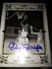 2011/12 Leaf Legends of Sport ELGIN BAYLOR Auto #1/5 1/1 Rare Gold Auto