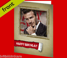 DAVID BECKHAM Autograph BIRTHDAY Card Reproduction Including Envelope A5