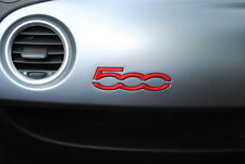 Fiat 500 / Abarth Dashboard Badge Emblem Logo Gloss Red New Genuine 735577554