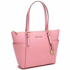 NWT Michael Kors Jet Set East West Top Zip Saffiano Leather Tote MISTY ROSE $248
