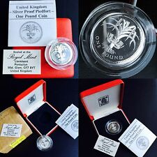Boxed & Perfect 1986 Limited Issue United Kingdom Silver Proof Piedfort £1 Coin