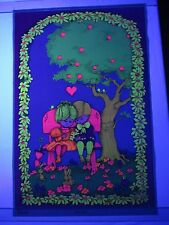 Vintage Childrens Blacklight Poster FIRST LOVE 1969 Gary Patterson Little People