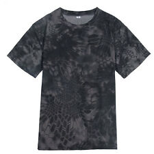Mens Military T-Shirt Camouflage Camo Army Combat Hunting Quick-dry Sports Shirt