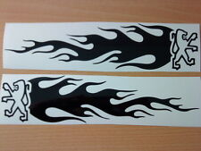 12inch peugeot 106 206 207 306 307 vinyl car sticker flames side graphics tribal