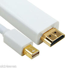 1m Mini Display Port DP Thunderbolt to HDMI TV Cable Adapter MacBook Pro iMac