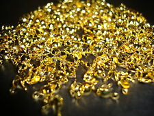 100 pcs 8mm x 4mm Gold Plated charlottes calottes necklace crimp beads findings