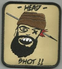 TALIBAN HUNTING SNIPER ONE SHOT ONE KILL HEAD SHOT MORALE MILITARY PATCH
