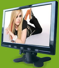 HD 9'' 800x480 TFT LCD Color 2CH Car Rear View Monitor HDMI VGA Input Ultra Thin