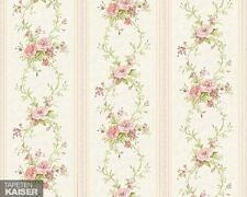 ✔AS Creation - Chateau 4 Vinyl-Tapete  955141 Blumen Barock Retro Grün Metallic