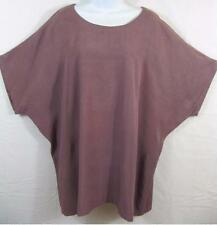 TIENDA HO~ROYAL MAUVE~Dolman s/s Box Top~HEAVY SOLID FLAT Rayon~Beautiful!~OS