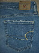 AMERICAN EAGLE Stretch Skinny Flare Denim Jeans Womens Size 6 x 32
