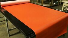 """5 YARDS BRIGHT ORANGE FAUX LEATHER AUTO UPHOLSTERY FABRIC VINYL 54""""W PLEATHER"""