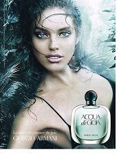 PUBLICITE ADVERTISING  2011   GIORGIO ARMANI  haute parfumerie