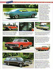 1969 Chevy + Chevelle + Camaro + Impala + Yenko + Corvair Article - Must See !!