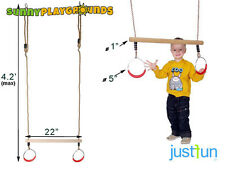 SWING SEAT+TRAPEZE+GYM RINGS COMBO PLAYGROUND ACCESSORIES OUTDOOR