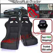 PAIR of BRIDE VIOS 3 LOW MAX RACING SEATS BLACK CLOTH BLACK FRP ZETA JDM BUCKET